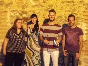 Fotos del Ganador, Sergio Patón, con la presentadora y los organizadores