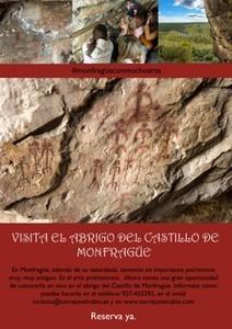COMIENZAN LAS VISITAS GUIADAS AL ABRIGO DEL CASTILLO DE MONFRAGÜE