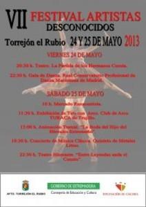 EL VII FESTIVAL DE ARTISTAS DESCONOCIDOS VUELVE A TORREJÓN EL RUBIO LOS PRÓXIMO 24 Y 25 DE ABRIL