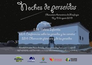"""""""NOCHES DE PERSEIDAS"""" NUEVA ACTIVIDAD DEL OBSERVATORIO ASTRONÓMICO DE MONFRAGÜE"""